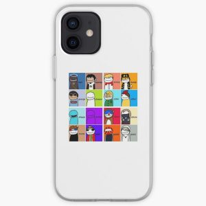 Dream Smp All Members  iPhone Soft Case RB1106 product Offical Dream SMP Merch