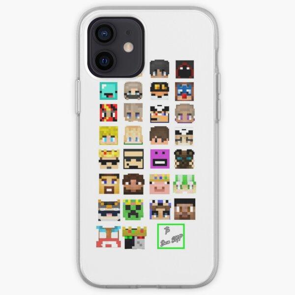 The Whole Dream SMP Version 2.0 (Transparent version) iPhone Soft Case RB1106 product Offical Dream SMP Merch