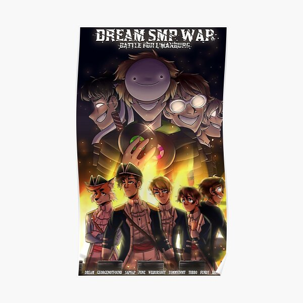 dream fall war smp Poster RB1106 product Offical Dream SMP Merch