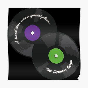 Dream Team SMP L'Manburg Anthem Discs Poster RB1106 product Offical Dream SMP Merch
