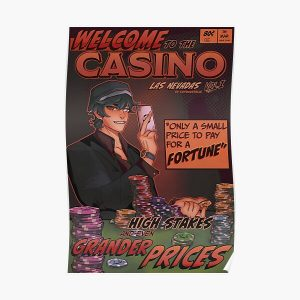 Quackity Casino Dream SMP Las Nevadas Comic Poster v2 Poster RB1106 product Offical Dream SMP Merch