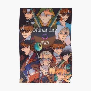 Dream Smp War  Poster RB1106 product Offical Dream SMP Merch