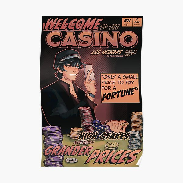 Quackity Casino Dream SMP Las Nevadas Comic Poster Poster RB1106 product Offical Dream SMP Merch