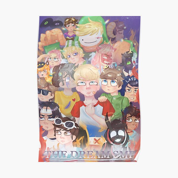 THE DREAM SMP POSTER Poster RB1106 product Offical Dream SMP Merch