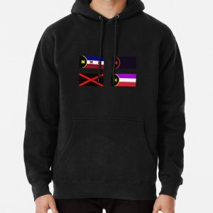 L'Manberg and Manberg Flags (Dream SMP) Black Pullover Hoodie RB1106 product Offical Dream SMP Merch