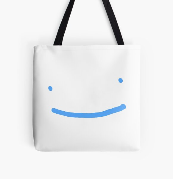 Dream SMP blue smile All Over Print Tote Bag RB1106 product Offical Dream SMP Merch