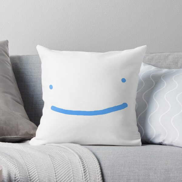Dream SMP blue smile Throw Pillow RB1106 product Offical Dream SMP Merch