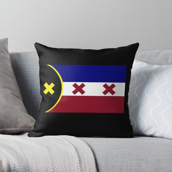L'Manberg Dream SMP Flag Throw Pillow RB1106 product Offical Dream SMP Merch