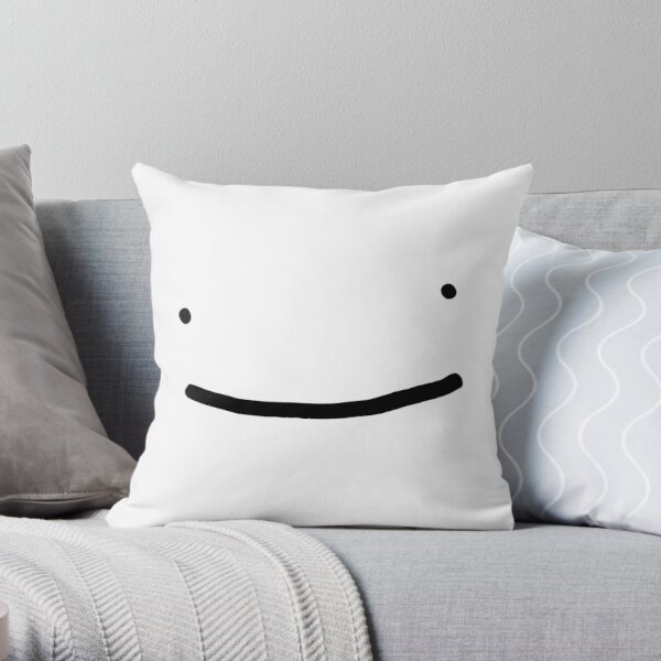 Dream SMP smile Throw Pillow RB1106 product Offical Dream SMP Merch