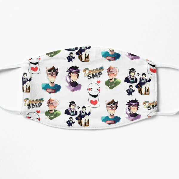 Dream SMP Lovers , Dream Smp Cartoon Flat Mask RB1106 product Offical Dream SMP Merch